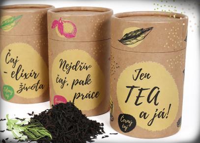 Zelený, ovocný nebo černý čaj v tubusu