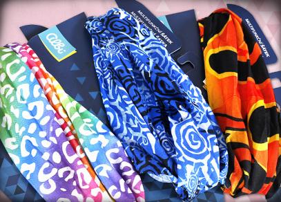 Veselé barevné vzory na šátcích od Albi