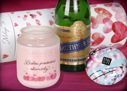 Udělejte si pohodu s Valentýnským sektem a vonnou svíčkou
