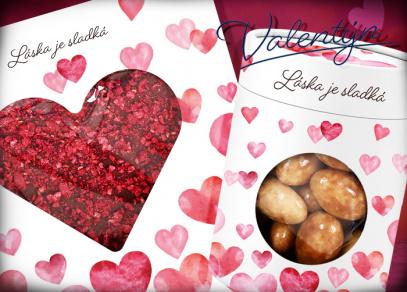 Když je láska sladká... čokoládové srdce a mandle v tiramisu
