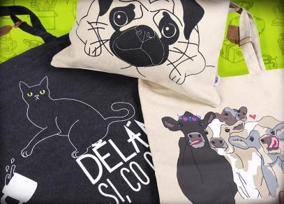 Plátěné tašky pro milovníky zvířat