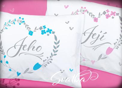 Set svatebních polštářů pro novomanžele
