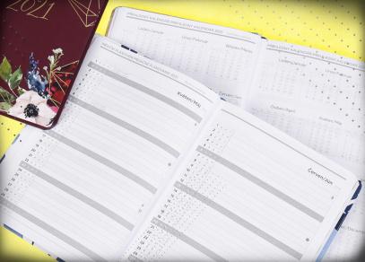 Měsíční plánování roku a přehledný kalendář