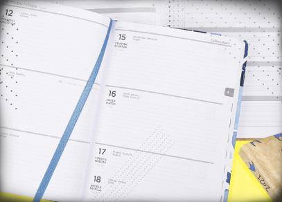 Týdenní plánování a látková stužka pro orientaci v diáři