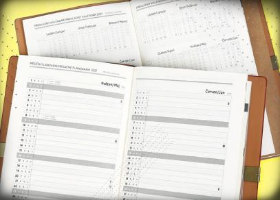 Měsíční plánování a přehledný kalendář na rok 2021