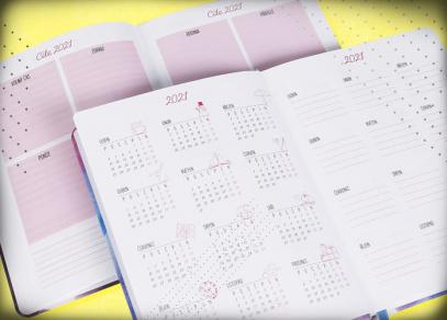 Roční plánování s obrázky a možnost vyznačení cílů v osobním i pracovním životě