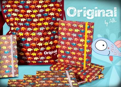 Kolekce Original - tašky přes rameno, 18-ti měsíční diáře a zápisníky s originálními potisky