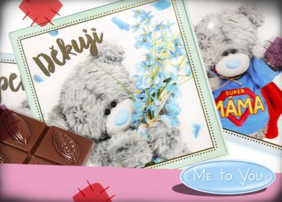 Medvídci Me to You na čokoládách s 3D efektem