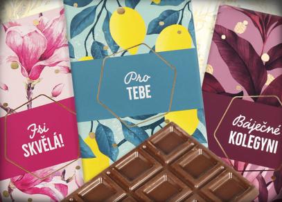 Mléčné čokolády s věnováním od Albi