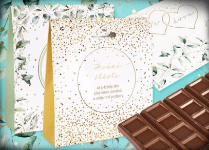 Svatební dobroty - mléčná čokoláda a sypaný čaj