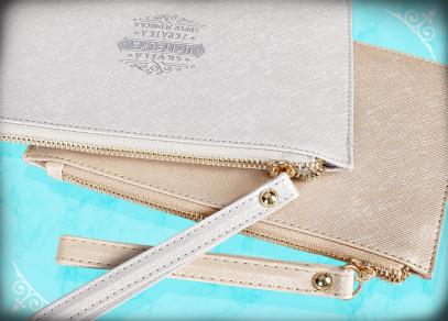Kosmetická psaníčka na zip s praktickým poutkem