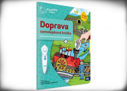 Samolepková knížka Doprava - Kouzelné čtení