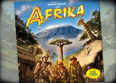 Titulní strana rodinné hry Afrika