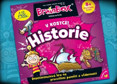 Procvičte si paměť! Titulka vzdělávací hry z řady V kostce! Historie