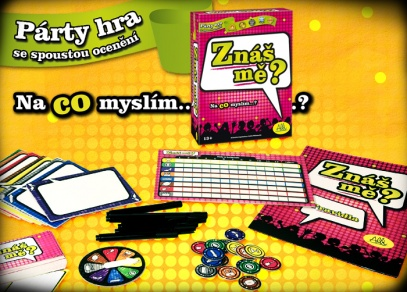 Hra obsahuje 400 otázek na 80 kartičkách, 8 odpovědních tabulek, 8 mazatelných fixů, ROZH-O-DOVAČ, 16 žetonů, 1 bodovací tabulka a pravidla v českém jazyce