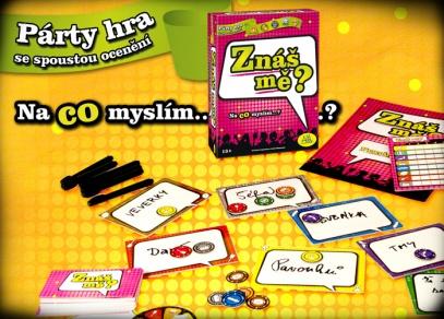 Rozehraná párty hra Znáš mě?