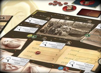 Detail herního plánu detektivní rodinné hry Lady Alice