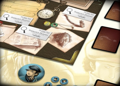Ve hře Lady Alice najdete herní plán, zápisník indicií, 32 karet indicií, 5 sad žetonů, 28 vizitek Sherlocka Holmese a 5 složek s verdikty