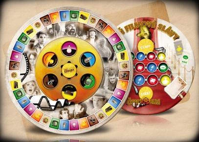 Ve hře Český film premium jsou dva herní plány - klasický pro vědomostní hru a párty herní plán...