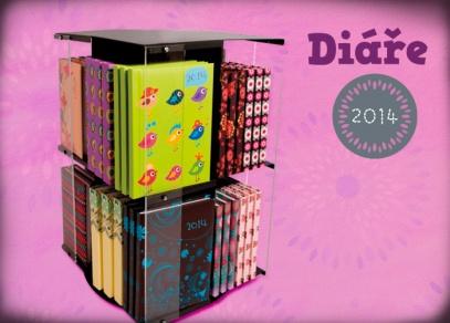 Nabízíme všechny oblíbené velikosti diářů včetně diářů pro studenty na školní rok 2013-2014