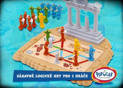 Doneste sochu Athény přes shluk zvědavců na podstavec!