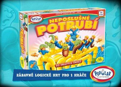 Neposlušné potrubí - zábavná logická hra pro jednoho z řady Popular