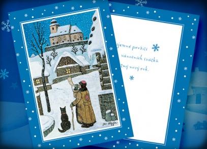 I letos nabízíme vánoční přáníčka s motivy Josefa Lady