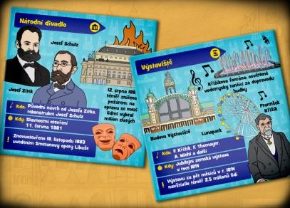 Mnoho zajímavostí o Praze na 71 obrázkových kartách - Praha V kostce! od ALBI