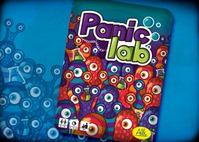 Titulka skvělé postřehové hry Panic lab v plechové krabičce