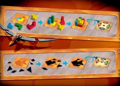 Hádanky s hranoly a s úlomky - hra Enigma
