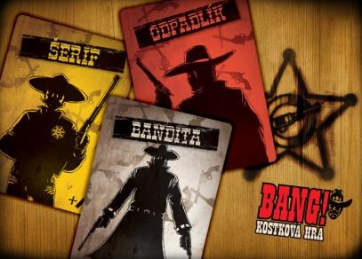 Klasické rozdělení do rolí - šerif, pomocníci šerifa, odpadlíci a bandité...