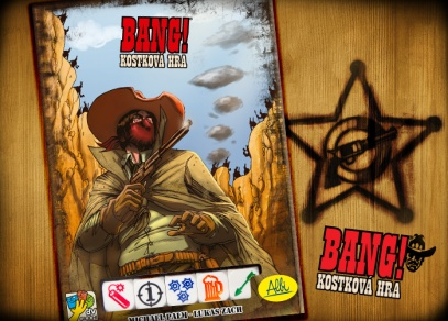 BANG! Kostková hra - kombinuje princip karetní a kostkové hry