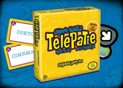 Karty se slovy a obrázky, kostka, tužka, papír a zábava může začít - Telepatie