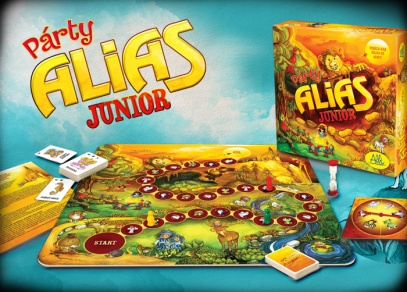 Komponenty párty hry pro děti Párty Alias Junior