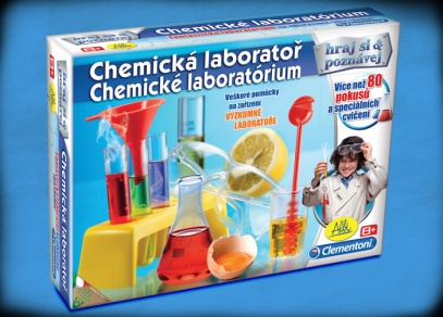 Nechejte malé vědce se bavit - Chemická laboratoř od ALBI