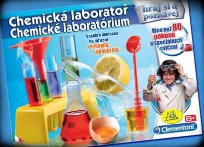 Chemická laboratoř - bezpečné a přitom zábavné pokusy pro malé chemiky!
