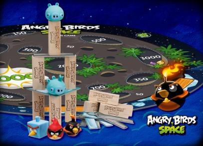 Komponenty stolní hry Angry Birds Space