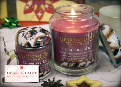Vánoční svíčky Heart & Home