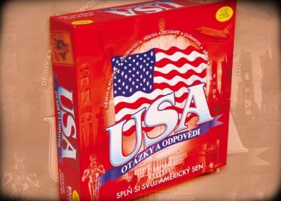 USA - kvízová hra - krabice
