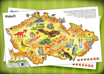 Pohoří - dvoustrana z knihy Česká republika