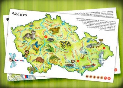 Vodstvo - knihu Česká republika ilustrovala Ladislava Pechová