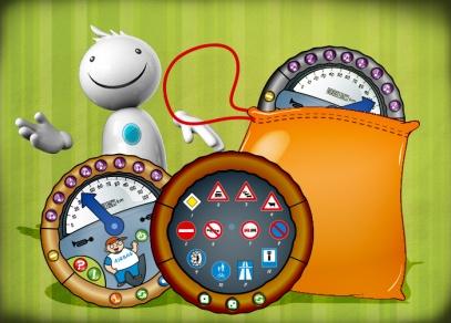 Tři herní tabulky, textilní sáček a pravidla - jednoduchá hra pro děti