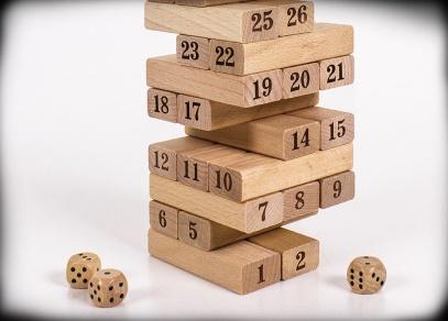 Rozehraná věž s čísly...