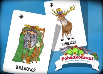 V Pohádkohraní je 200 karet s obrázky...