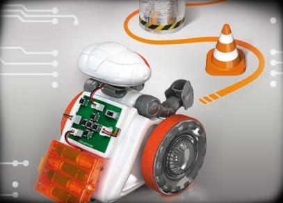 Robota lze programovat, aby projel předem připravenou trasu...