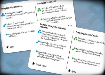 iKNOW Česko - čtyři herní kategorie, tři nápovědy ke každé otázce...
