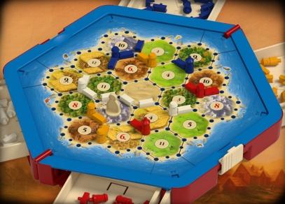 Detail herní plochy - Catan - Osadníci kompakt