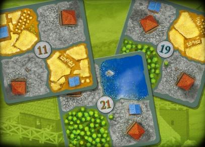 Limes - Hra Limes obsahuje kartičky krajiny, figurky dělníků a pravidla v českém jazyce