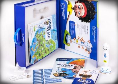 Krabice obsahuje mj. i audio blok a průvodce Kouzelným čtením s interaktivními dvoustranami z knih z edice Kouzelné čtení...