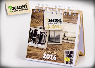 Kvízový kalendář praktické velikosti na stůl každého milovníka historie...